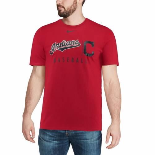ナイキ NIKE クリーブランド インディアンズ プラクティス Tシャツ 【 CLEVELAND INDIANS MLB PRACTICE TSHIRT ANTHRACITE RED 】 メンズファッション トップス カットソー 送料無料