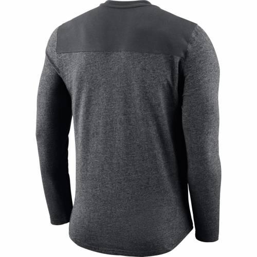 ナイキ NIKE カロライナ パンサーズ ヘンリー スリーブ Tシャツ チャコール メンズファッション トップス カットソー メンズ 【 Carolina Panthers Seasonal Henley Long Sleeve T-shirt - Charcoal 】 Charcoal