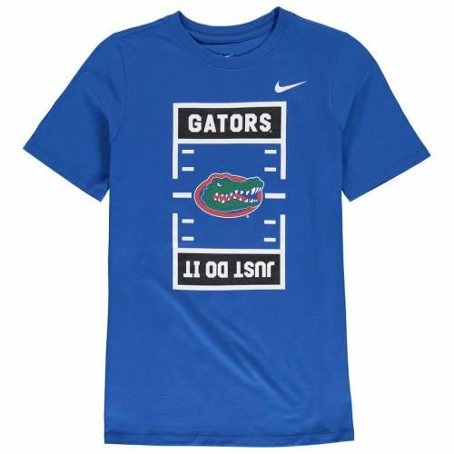 ナイキ NIKE フロリダ 子供用 フィールド Tシャツ キッズ ベビー マタニティ トップス ジュニア 【 Florida Gators Youth Jdi Field Football T-shirt - Royal 】 Royal