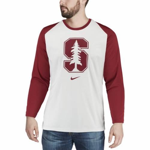 ナイキ NIKE スタンフォード 赤 カーディナル バスケットボール エリート パフォーマンス スリーブ Tシャツ 白 ホワイト メンズファッション トップス カットソー メンズ 【 Stanford Cardinal
