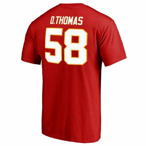 NFL PRO LINE BY FANATICS BRANDED デリック カンザス シティ チーフス プロ オーセンティック Tシャツ & 【 DERRICK THOMAS KANSAS CITY CHIEFS RETIRED PLAYER AUTHENTIC STACK NAME NUMBER TSHIRT RED 】 メンズファッシ