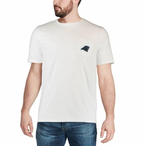 VINEYARD VINES カロライナ パンサーズ ロゴ Tシャツ 白 ホワイト メンズファッション トップス カットソー メンズ 【 Carolina Panthers Circle Logo T-shirt - White 】 White
