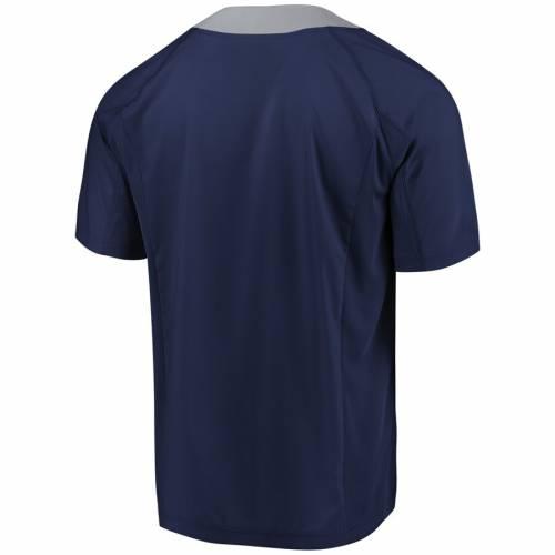 マジェスティック MAJESTIC マジェスティック ヤンキース クール Tシャツ 紺 ネイビー 【 NAVY MAJESTIC NEW YORK YANKEES NEVER WANNA STOP COOL BASE TSHIRT 】 メンズファッション トップス Tシャツ カット