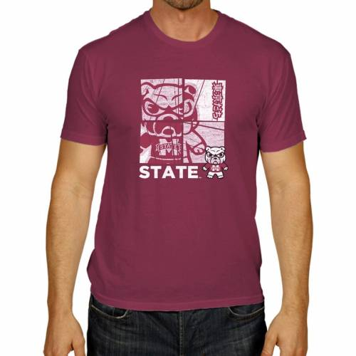 THE VICTORY ビクトリー スケートボード Tシャツ 2.0 【 VICTORY STATE THE MISSISSIPPI BULLDOGS TOKYO DACHI TSHIRT MAROON 】 メンズファッション トップス Tシャツ カットソー