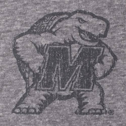 COLOSSEUM メリーランド ヘンリー Tシャツ 黒 ブラック 灰色 グレー グレイ 【 BLACK GRAY COLOSSEUM MARYLAND TERRAPINS MOOPS HENLEY TSHIRT HEATHERED 】 メンズファッション トップス Tシャツ カットソー
