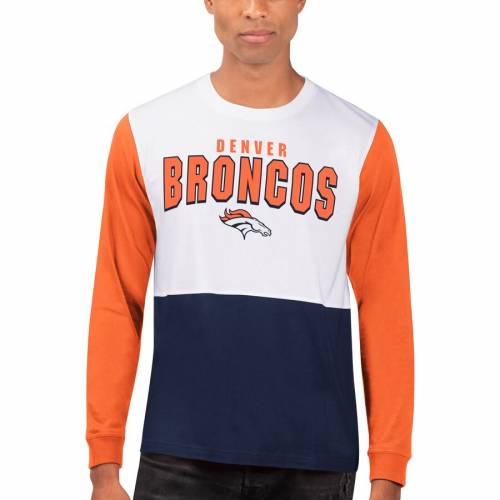 HANDS HIGH デンバー ブロンコス スリーブ Tシャツ メンズファッション トップス カットソー メンズ 【 Denver Broncos Change Up Long Sleeve T-shirt - White/navy 】 White/navy