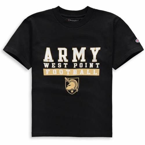 チャンピオン CHAMPION 黒 ブラック 子供用 Tシャツ キッズ ベビー マタニティ トップス ジュニア 【 Army Black Knights Youth Football Drop T-shirt - Black 】 Black