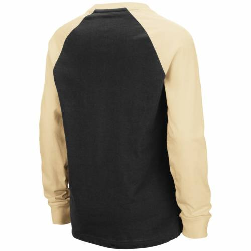 COLOSSEUM 黒 ブラック 子供用 キャップ 帽子 ラグラン スリーブ Tシャツ キッズ ベビー マタニティ トップス ジュニア 【 Army Black Knights Youth Beanie Raglan Long Sleeve T-shirt - Black 】 Black
