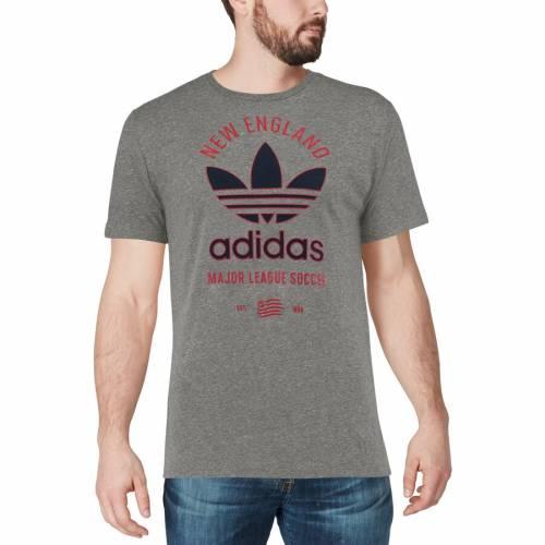 スポーツブランド カジュアル ファッション 新発売 トップス 半袖 アディダス ADIDAS レボリューション クラシック Tシャツ 灰色 GRAY カットソー メンズファッション TSHIRT LABEL グレイ ニューイングランド グレー CLASSIC TRIBLEND 正規品送料無料