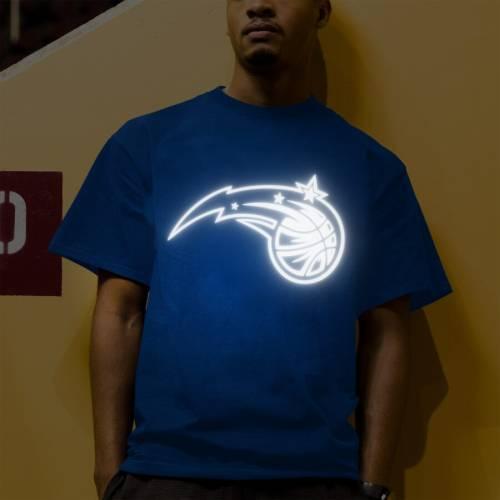 マジェスティック MAJESTIC オーランド マジック Tシャツ 【 ORLANDO MAGIC REFLECTIVE TEK PATCH TSHIRT BLUE 】 メンズファッション トップス カットソー 送料無料