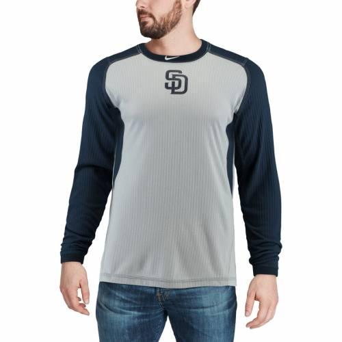 ナイキ NIKE パドレス オーセンティック コレクション ゲーム スリーブ Tシャツ メンズファッション トップス カットソー メンズ 【 San Diego Padres Authentic Collection Game Long Sleeve T-shirt - Gray/n