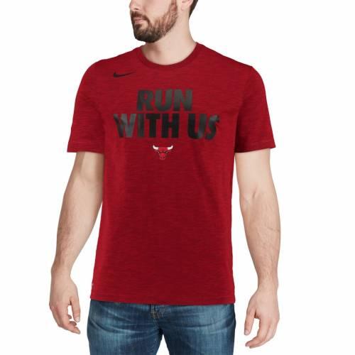 ナイキ NIKE シカゴ ブルズ チーム アティテュード パフォーマンス Tシャツ 赤 レッド 【 TEAM RED NIKE CHICAGO BULLS ESSENTIAL ATTITUDE PERFORMANCE TSHIRT HEATHERED 】 メンズファッション トップス Tシャツ