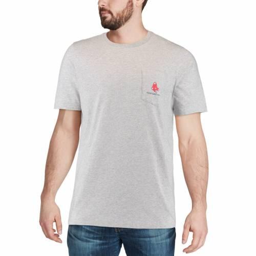 VINEYARD VINES ボストン 赤 レッド Tシャツ 灰色 グレー グレイ メンズファッション トップス カットソー メンズ 【 Boston Red Sox Filled In Whale T-shirt - Gray 】 Gray