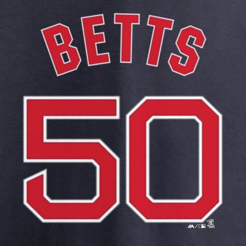 マジェスティック MAJESTIC ボストン 赤 レッド シリーズ Tシャツ 紺 ネイビー メンズファッション トップス カットソー メンズ 【 Mookie Betts Boston Red Sox 2018 World Series Champions Name And Number T-s