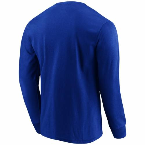 マジェスティック MAJESTIC バッファロー ビルズ デュエル スリーブ Tシャツ メンズファッション トップス カットソー メンズ 【 Buffalo Bills Big And Tall Dual Threat Long Sleeve T-shirt - Royal 】 Royal