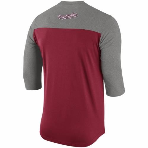 ナイキ NIKE ワシントン ナショナルズ ヘンリー Tシャツ 赤 レッド メンズファッション トップス カットソー メンズ 【 Washington Nationals Dry Henley 3/4-sleeve T-shirt - Red 】 Red