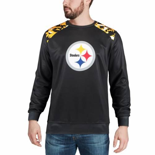 FOCO ピッツバーグ スティーラーズ スリーブ Tシャツ 黒 ブラック メンズファッション トップス カットソー メンズ 【 Pittsburgh Steelers Nflxfit Quicksnap Long Sleeve Crew T-shirt - Black 】 Black