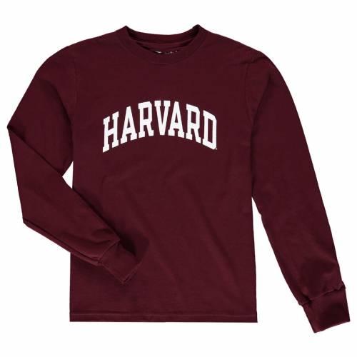 チャンピオン CHAMPION ハーバード 子供用 スリーブ Tシャツ 灰色 グレー グレイ キッズ ベビー マタニティ トップス ジュニア 【 Harvard Crimson Youth Basic Arch Long Sleeve T-shirt - Heathered Gray 】 Cri