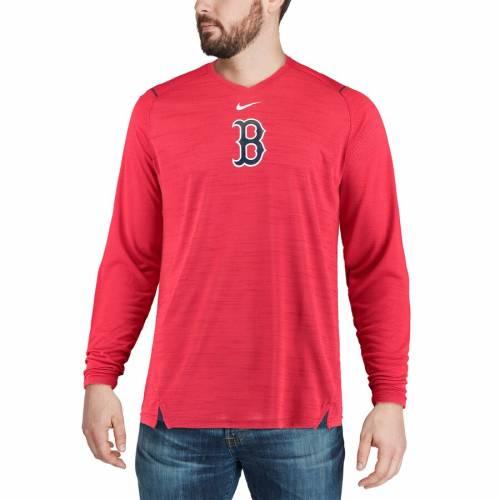 ナイキ NIKE ボストン 赤 レッド スリーブ パフォーマンス Tシャツ メンズファッション トップス カットソー メンズ 【 Boston Red Sox Ac Breathe Long Sleeve Performance T-shirt - Red 】 Red