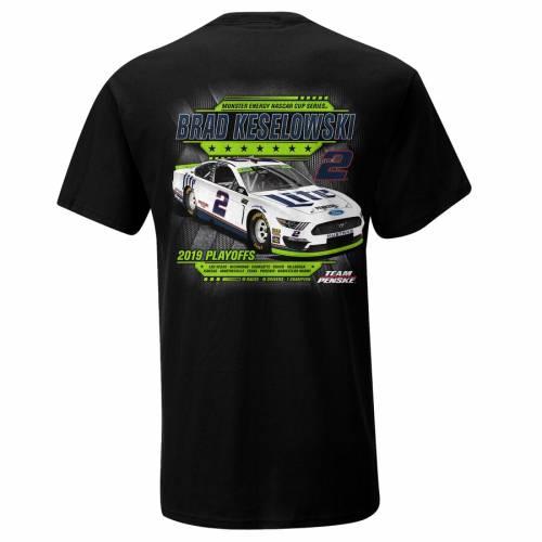 SMI PROPERTIES エナジー シリーズ Tシャツ 【 BRAD KESELOWSKI 2019 MONSTER ENERGY NASCAR CUP SERIES PLAYOFFS TSHIRT BLACK 】 メンズファッション トップス カットソー 送料無料