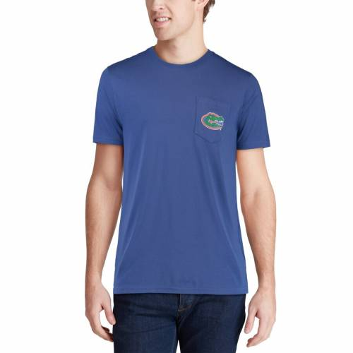 SOUTHERN TIDE フロリダ カレッジ Tシャツ 【 SOUTHERN TIDE FLORIDA GATORS SKIPJACK GOES TO COLLEGE TSHIRT ROYAL 】 メンズファッション トップス Tシャツ カットソー