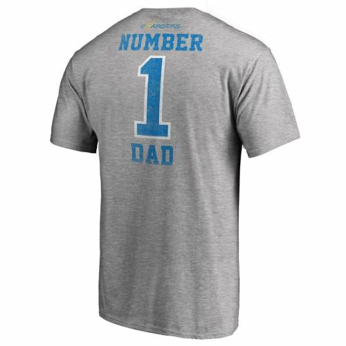 NFL PRO LINE BY FANATICS BRANDED チャージャーズ Tシャツ 灰色 グレー グレイ メンズファッション トップス カットソー メンズ 【 Los Angeles Chargers Big And Tall Greatest Dad Retro Tri-blend T-shirt - Heathered G