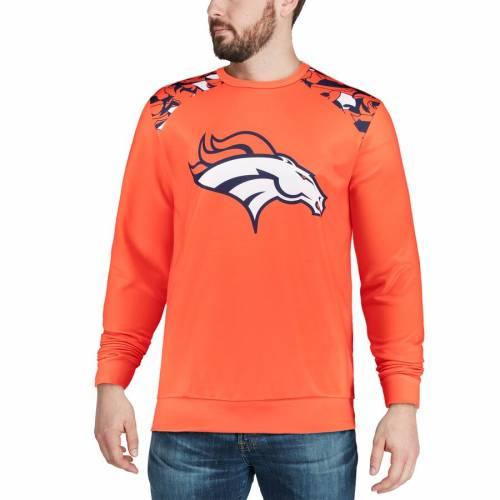 FOCO デンバー ブロンコス スリーブ Tシャツ 橙 オレンジ メンズファッション トップス カットソー メンズ 【 Denver Broncos Nflxfit Quicksnap Long Sleeve Crew T-shirt - Orange 】 Orange