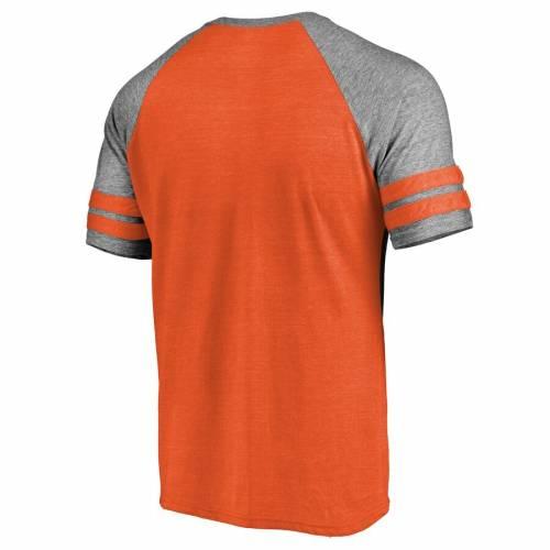 NFL PRO LINE BY FANATICS BRANDED デンバー ブロンコス ストライク ラグラン Tシャツ 橙 オレンジ メンズファッション トップス カットソー メンズ 【 Denver Broncos Slant Strike Tri-blend Raglan T-shirt - Ora