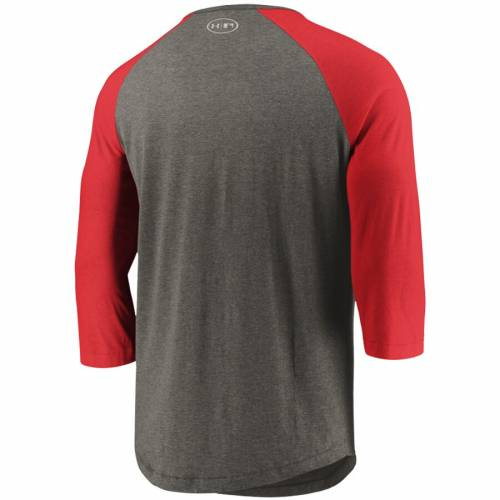 アンダーアーマー UNDER ARMOUR ワシントン ナショナルズ ラグラン パフォーマンス Tシャツ メンズファッション トップス カットソー メンズ 【 Washington Nationals Tri-blend Raglan 3/4-sleeve Performan