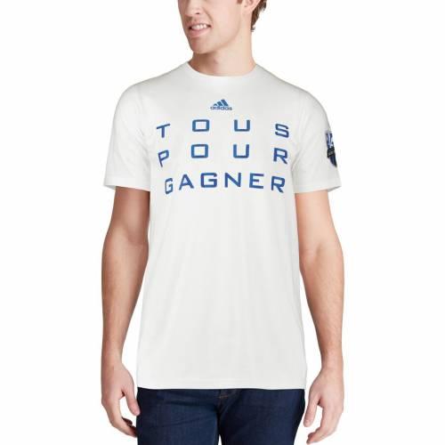 アディダス ADIDAS インパクト ジャージ Tシャツ 白 ホワイト 【 WHITE ADIDAS MONTREAL IMPACT JERSEY HOOK TSHIRT 】 メンズファッション トップス Tシャツ カットソー