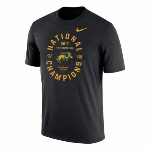 ナイキ NIKE パフォーマンス Tシャツ 黒 ブラック 【 BLACK NIKE NDSU BISON 2017 NCAA FCS NATIONAL CHAMPIONS PERFORMANCE TSHIRT 】 メンズファッション トップス Tシャツ カットソー