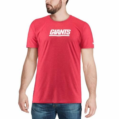 ナイキ NIKE ジャイアンツ サイドライン Tシャツ 【 NEW YORK GIANTS SIDELINE PLAYER TSHIRT RED 】 メンズファッション トップス カットソー 送料無料