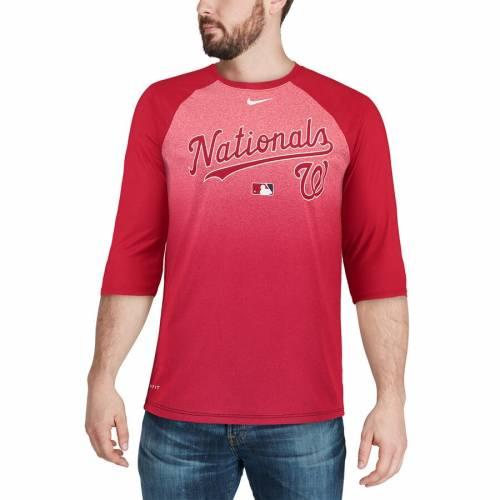 ナイキ NIKE ワシントン ナショナルズ オーセンティック コレクション レジェンド ラグラン パフォーマンス Tシャツ 赤 レッド メンズファッション トップス カットソー メンズ 【 Washingt