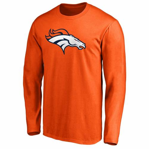 NFL PRO LINE BY FANATICS BRANDED デンバー ブロンコス プロ ロゴ スリーブ Tシャツ 橙 オレンジ メンズファッション トップス カットソー メンズ 【 Denver Broncos Nfl Pro Line Primary Logo Long Sleeve T-shirt
