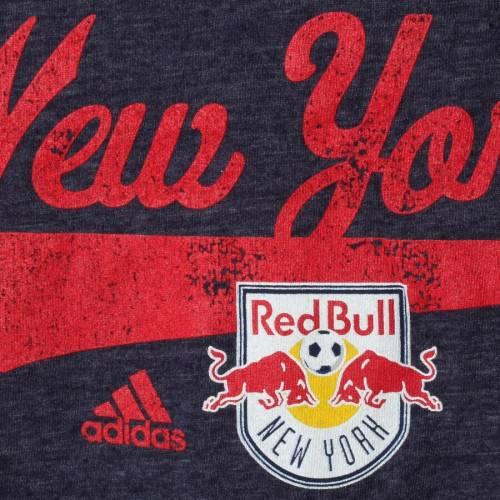 アディダス ADIDAS 赤 レッド ブルズ 子供用 ブイネック Tシャツ 紺 ネイビー キッズ ベビー マタニティ トップス ジュニア 【 New York Red Bulls Girls Youth Tail Stack V-neck T-shirt - Navy 】 Navy