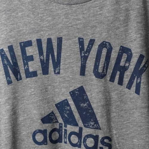 アディダス ADIDAS 赤 レッド ブルズ 子供用 チーム Tシャツ 灰色 グレー グレイ キッズ ベビー マタニティ トップス ジュニア 【 New York Red Bulls Youth Team Tri-blend T-shirt - Heathered Gray 】 Heathere