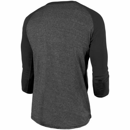 MAJESTIC THREADS ピッツバーグ チーム Tシャツ 黒 ブラック メンズファッション トップス カットソー メンズ 【 Pittsburgh Penguins Team Favorite 3/4-sleeve Tri-blend T-shirt - Black 】 Black