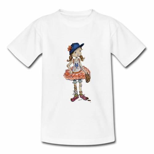 TINY TURNIP メッツ 子供用 Tシャツ 白 ホワイト キッズ ベビー マタニティ トップス ジュニア 【 New York Mets Girls Youth Babes T-shirt - White 】 White
