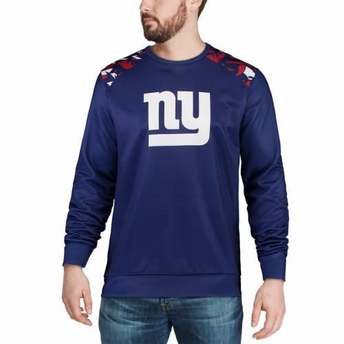 FOCO ジャイアンツ スリーブ Tシャツ メンズファッション トップス カットソー メンズ 【 New York Giants Nflxfit Quicksnap Long Sleeve Crew T-shirt - Royal 】 Royal