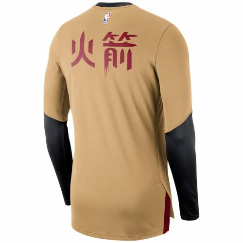 ナイキ NIKE ヒューストン ロケッツ シティ スリーブ シューティング Tシャツ メンズファッション トップス カットソー メンズ 【 Houston Rockets City Edition Long Sleeve Shooting T-shirt - Gold 】 Gold