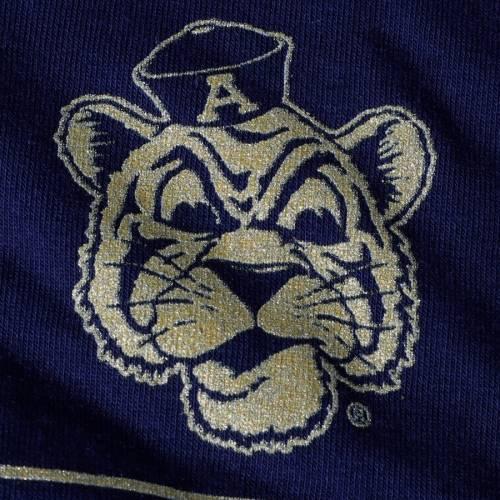 アンダーアーマー UNDER ARMOUR タイガース 子供用 パフォーマンス Tシャツ 紺 ネイビー キッズ ベビー マタニティ トップス ジュニア 【 Auburn Tigers Girls Youth Shimmer Performance T-shirt - Navy 】 Nav