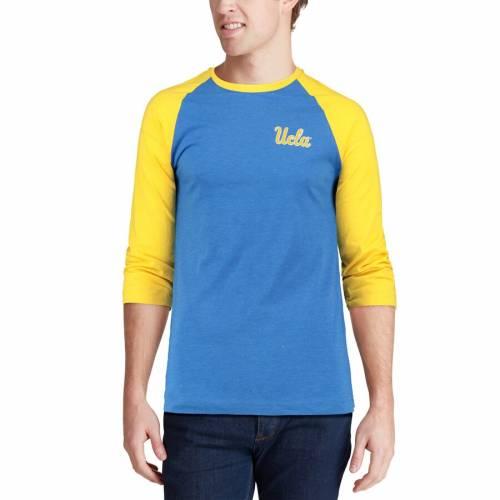 COLOSSEUM ラグラン Tシャツ 【 RAGLAN UCLA BRUINS 3 4SLEEVE TSHIRT BLUE GOLD 】 メンズファッション トップス カットソー 送料無料