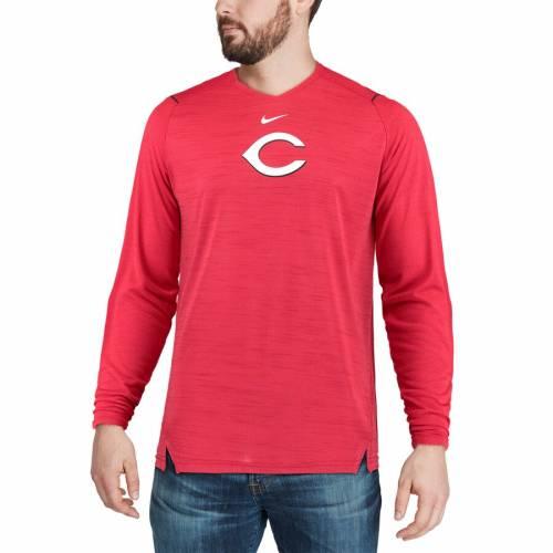 ナイキ NIKE シンシナティ レッズ スリーブ パフォーマンス Tシャツ 赤 レッド メンズファッション トップス カットソー メンズ 【 Cincinnati Reds Ac Breathe Long Sleeve Performance T-shirt - Red 】 Red