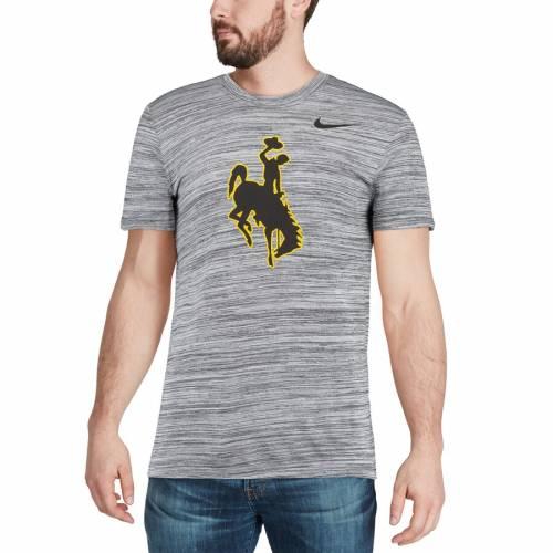 ナイキ NIKE カウボーイズ レジェンド パフォーマンス Tシャツ 黒 ブラック メンズファッション トップス カットソー メンズ 【 Wyoming Cowboys Legend Velocity Travel Performance T-shirt - Heathered Black
