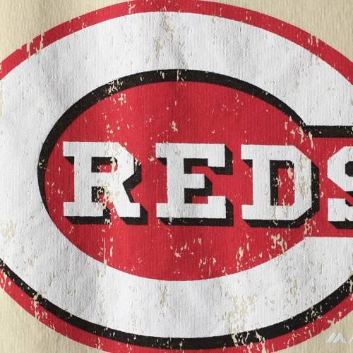 MAJESTIC THREADS シンシナティ レッズ ラグラン Tシャツ メンズファッション トップス カットソー メンズ 【 Cincinnati Reds Softhand Raglan T-shirt - Cream/red 】 Cream/red