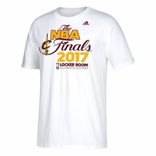 アディダス ADIDAS クリーブランド キャバリアーズ Tシャツ 白 ホワイト メンズファッション トップス カットソー メンズ 【 Cleveland Cavaliers 2017 Eastern Conference Champions Locker Room T-shirt - White