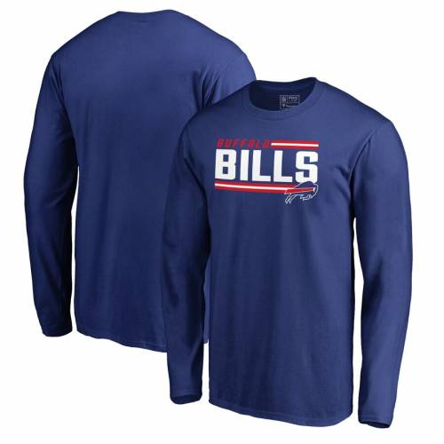 NFL PRO LINE BY FANATICS BRANDED プロ バッファロー ビルズ コレクション ストライプ スリーブ Tシャツ 【 NFL STRIPE SLEEVE PRO LINE BY FANATICS BRANDED BUFFALO BILLS ICONIC COLLECTION ON SIDE LONG TSHIRT ROYAL 】 メン