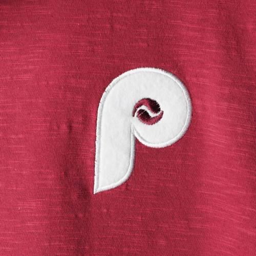ミッチェル&ネス MITCHELL & NESS フィラデルフィア フィリーズ スリーブ Tシャツ メンズファッション トップス カットソー メンズ 【 Philadelphia Phillies Mitchell And Ness Slub Long Sleeve T-shirt - M