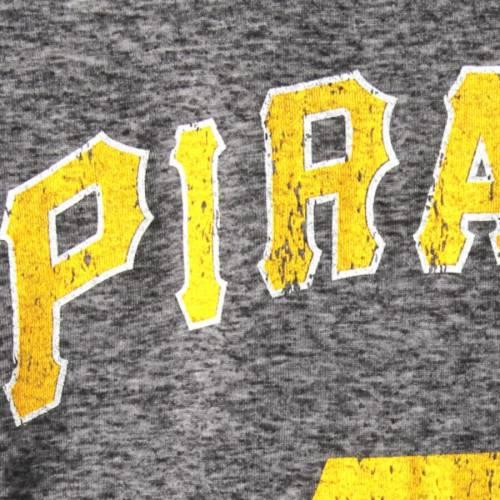 MAJESTIC THREADS ピッツバーグ 海賊団 ラグラン スリーブ Tシャツ 黒 ブラック メンズファッション トップス カットソー メンズ 【 Pittsburgh Pirates Double Face Thermal Slub Raglan Long Sleeve T-shirt - Blac