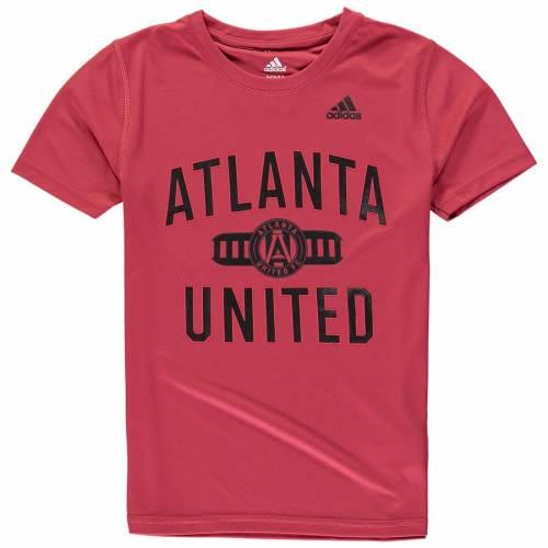 アディダス ADIDAS アトランタ 子供用 Tシャツ 赤 レッド キッズ ベビー マタニティ トップス ジュニア 【 Atlanta United Fc Youth Sprint Climalite T-shirt - Red 】 Red